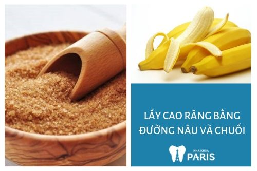 Vỏ chuối kết hợp với đường nâu có công dụng cạo sạch mảng bám.
