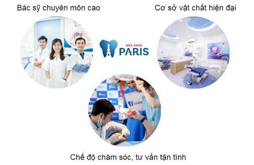 Nha khoa Paris là nha khoa hàng đầu Việt Nam về chất lượng dịch vụ
