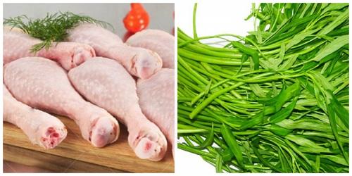 nhổ răng kiêng ăn thịt gà