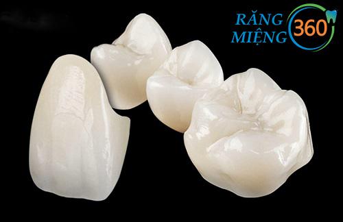 răng sứ zirconia có mấy loại