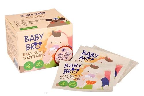 gạc vệ sinh răng miệng trẻ em baby bro