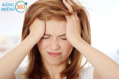 Nhổ răng bị đau đầu