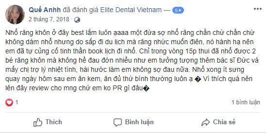 nha khoa elite dental bảng giá