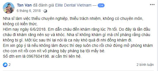 review nha khoa elite dental