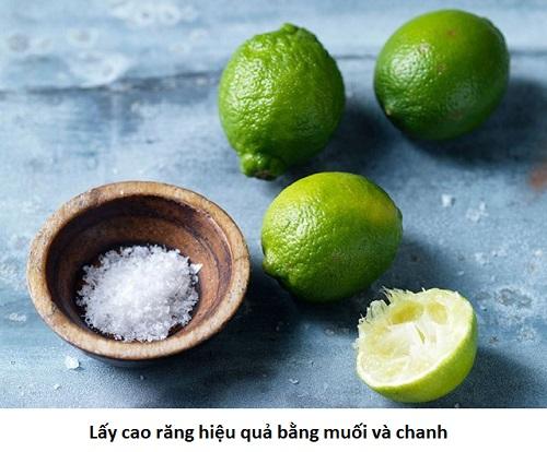 Cách lấy cao răng tại nhà bằng muối