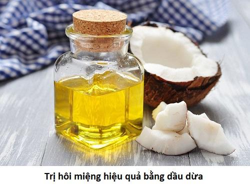 Cách trị hôi miệng bằng dầu dừa