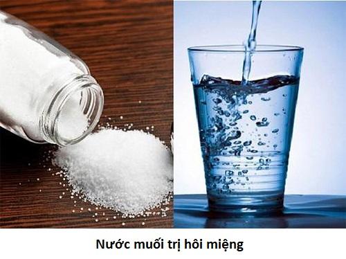 Cách trị hôi miệng bằng nước muối