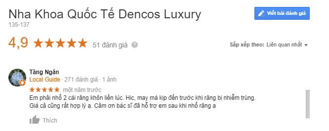 nha khoa Dencos Luxury Thanh Hóa có tốt không