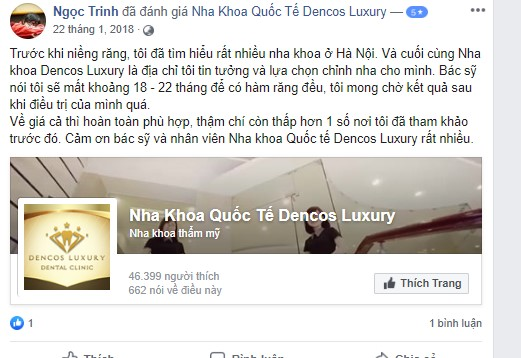 Review nha khoa dencos luxury hà nội