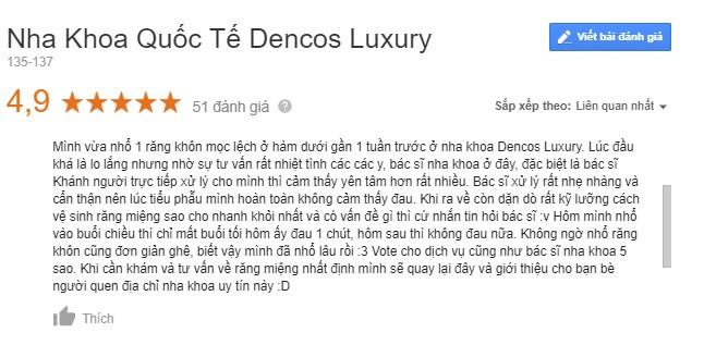 Review nha khoa dencos luxury thanh hóa có tốt không