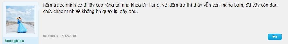 nha khoa dr hung review có tốt không