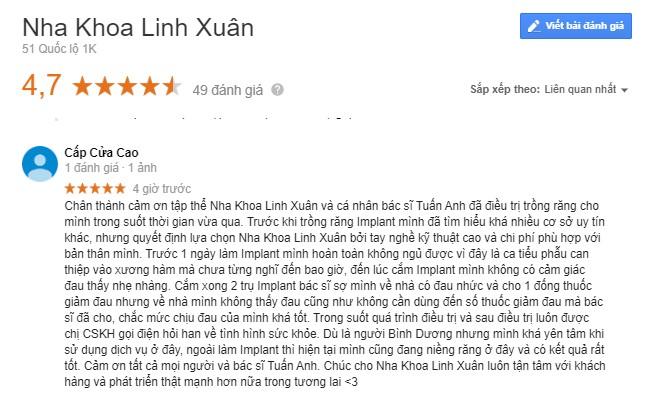 Nha khoa Linh Xuân Hồ Chí MInh