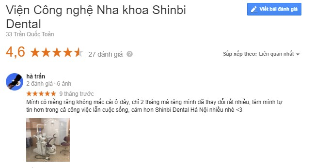 nha khoa shinbi có tốt không